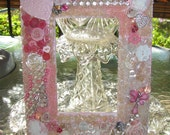 Shabby fufu bling photo frame