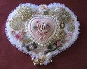 Bling n Pearls Heart