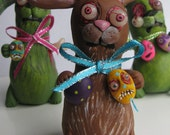 Easter BuNNy ooak with zombie egg