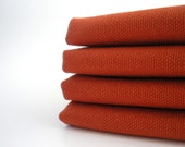 Organic Cotton Napkins, Thanksgiving/Autumn/Fall - Cloth Napkins, Eco Friendly, Set of Four - 12 x 12 - Sweet Potato Orange - Hostess Gift