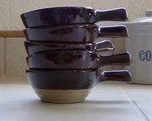 RESERVED for Rosa: French Casserole Soup Bowl Set of Five from Western Stoneware Pottery