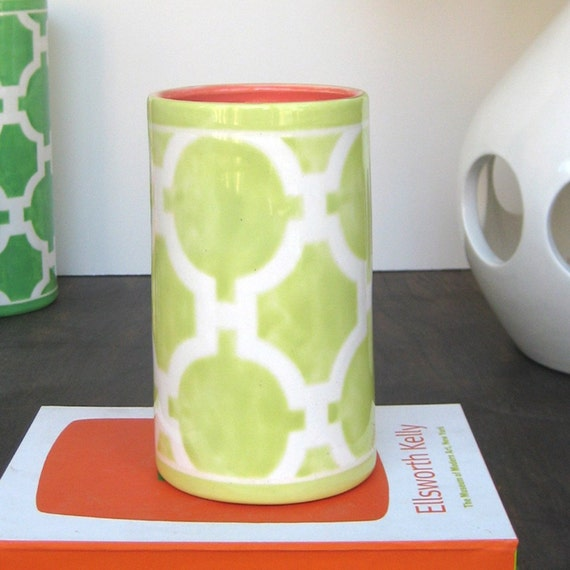 Number 6 Vase in Hampton Links Light Chartreuse
