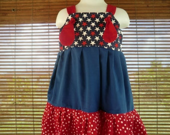 PATRIOTIC July 4th Knot Dress