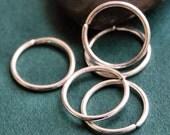 Multiple Piercing Silver Set of 5 Endless Hoop Earrings * Cartilage Tragus Daith Helix * Sleeper Hoop Earrings * Choose Your Size