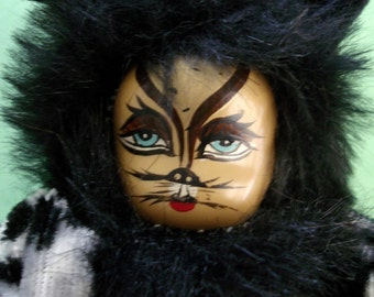 vintage Cornerstone Creations Cats theatrical doll