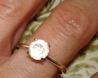 vintage Uncas faux diamond solitaire ring size 10