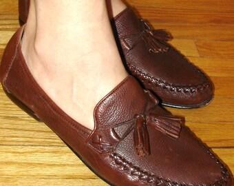 REDUCED SALE vintage Cole Haan tassel loafers size 8 - 9