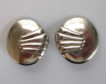 vintage Monet silver art deco earrings