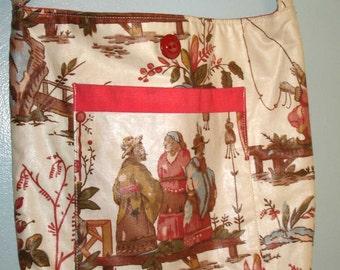 cute vintage fabric tote bag