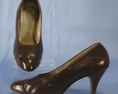 Vintage Lizard Embossed Leather Shoes Size 9 B
