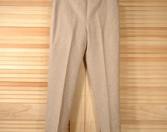 SALE Was 19.50 Vintage Wool Pants Size S to M Waist 34 Hips 40