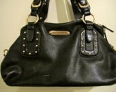 Black and Gold - what could be better - Leather Michael Kors Bag