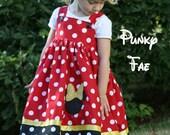 Miss Mouse Applique Jumper Dress Custom