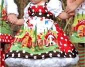 Gnomeville Apron Dress Set Custom