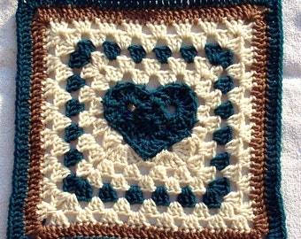 Fox's 12 x 12 Heart of a Granny Square