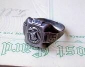 Vintage Libbey High School 1935 Jostens sterling silver school ring