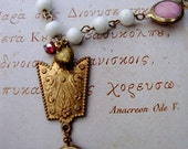 Vintage Milk Glass Rosary: Chain Necklace