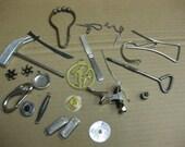 Full Tin Vintage Metal Junk Altered Art Supplies Steam Punk SALE