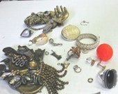 Lot of Vintage Altered Jewelry to Reuse Supplies SALE