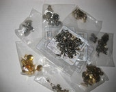 Metal Clip Screwback Earring Jewelry Samples Findings Lot Beaded Manipulated Plastic Domed Flat 113 pcs SALE