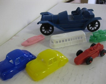 Vintage Odd Toy Car Lot for Game Supplies Diorama Race Assemblage 7 Pcs SALE
