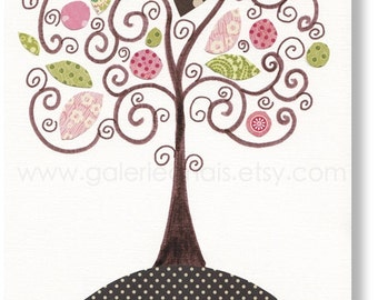 Nursery art prints - baby nursery decor - kids wall art - nursery print - kids art - kids room decor - Baby room decor -  Magic Tree