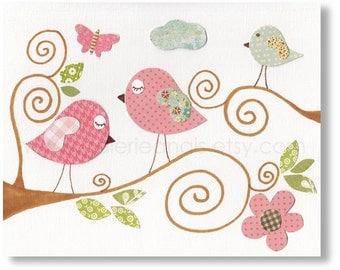 Art for Children nursery decor - baby nursery print - kids art - kids room decor - nursery wall art - Bird - Beautiful Day print