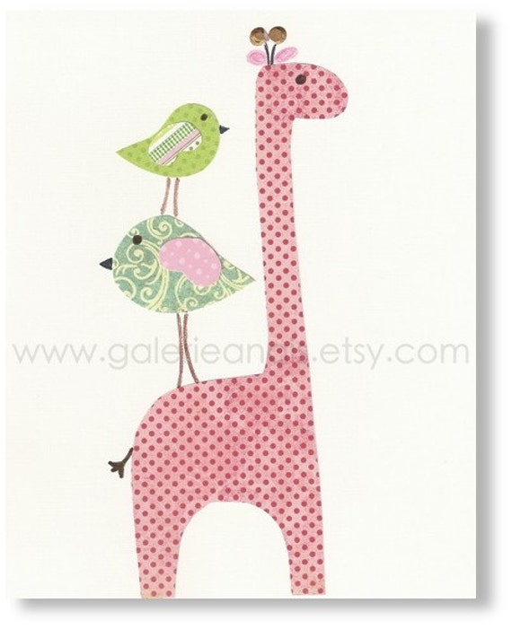 Baby Boy Nursery Decor Art Kids Art Kids Room By Galerieanais: Nursery Girl Art Baby Room Decor Nursery Giraffe By