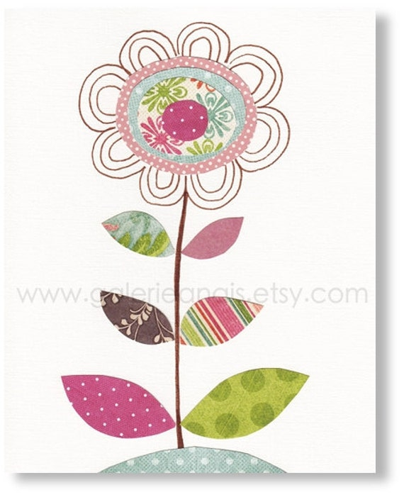 Nursery Art - nursery Baby kids Room - nursery Decor - nursery print - Flowers - All Grown Up print
