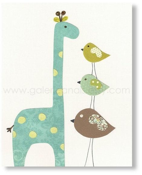 Popular items for nursery birds on Etsy
