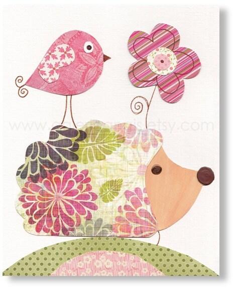 Etsy Girl Nursery Wall Decor : Baby girl nursery decor wall art print by galerieanais