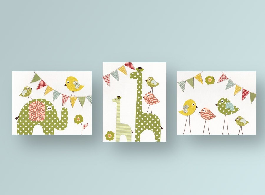 Nursery art baby nursery decor nursery wall art by for Baby nursery wall decoration