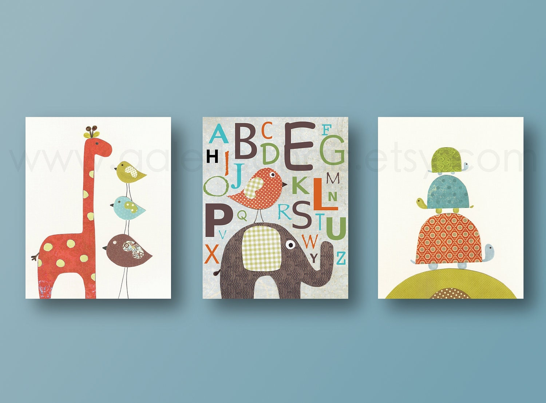 Baby room decor nursery print boy nursery decor elephant for Artwork decoration