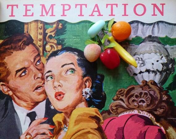 Beautiful tutti fruitti Carmen Miranda 1940's style brooch handmade with vintage fruits