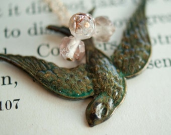 Flying High Bird Pendant Necklace