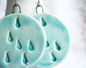 light blue rain drop earrings - mimosabyme