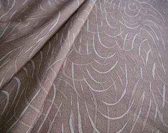 Vintage silk Japanese kimono fabric (light brown)