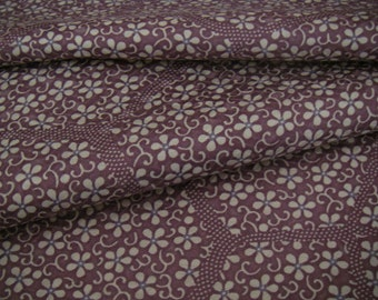 Vintage silk Japanese kimono fabric (small flowers)