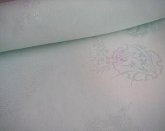 Vintage Silk Japanese kimono fabric (light green)never used