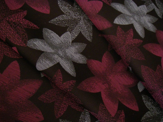 Vintage silk Japanese kimono fabric(Momiji)