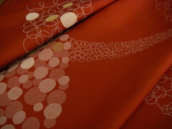 SALE vintage silk Japanese kimono fabric (dots)