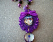 RESERVED-Sailor Saturn Plastic Pendant Necklace