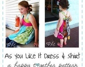 As You Like It Dress and Shirt PDF Pattern Sizes 2-8