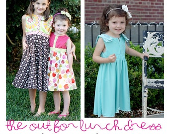 The Out for Lunch Dress PDF Pattern in Girls Sizes 18 months - 8