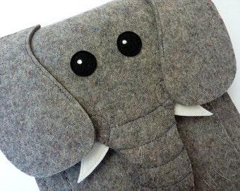 Elephant Kindle, Paperwhite, Voyage and Oasis case - reader case - Animal felt bag