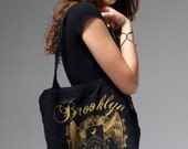 Black Brooklyn Rules Cotton Tote
