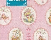 Vintage PINK wrapping paper for BABY SHOWER new old stock