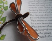 Dragonfly Wedding sash embelishment vintage dragonfly brooch To Add To Anything That You Can Imagine