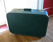 Vintage Hunter Green Suitcase JC Higgins