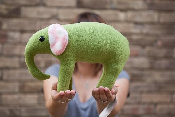 Tuffi - A Green Elephant Plush